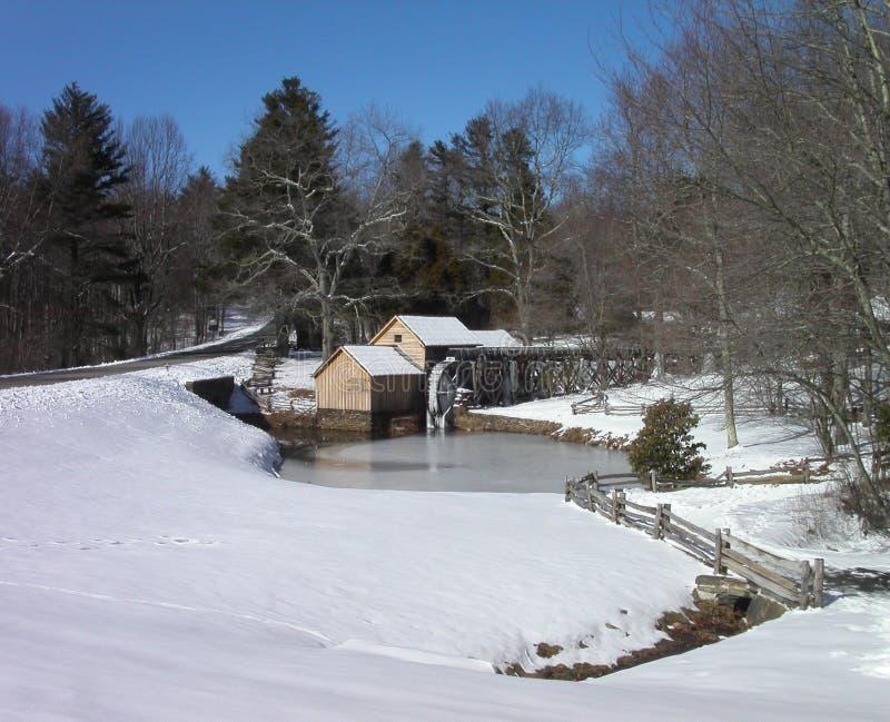 De Molen van Mabry in de winter royalty-vrije stock afbeelding
