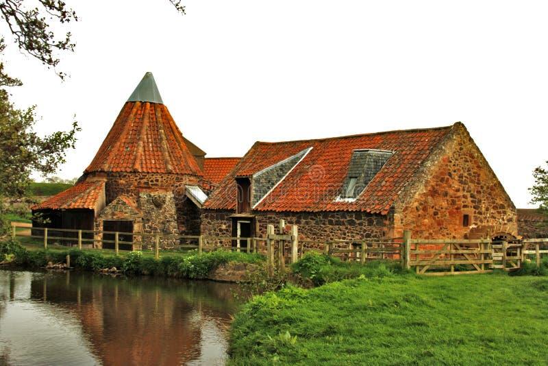 De Molen van Preston, het Oosten Linton, Schotland stock afbeelding