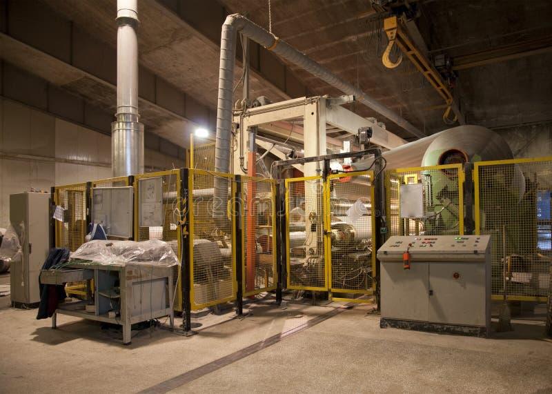 De moleninstallatie van het papier en van de pulp - Fourdrinier Machine stock foto