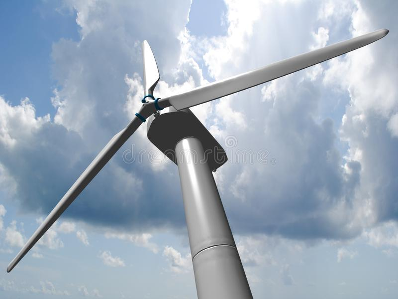 De molens van de wind stock illustratie