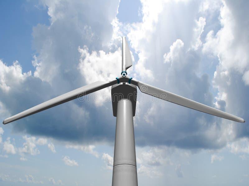De molens van de wind, vernieuwbare energie. royalty-vrije illustratie