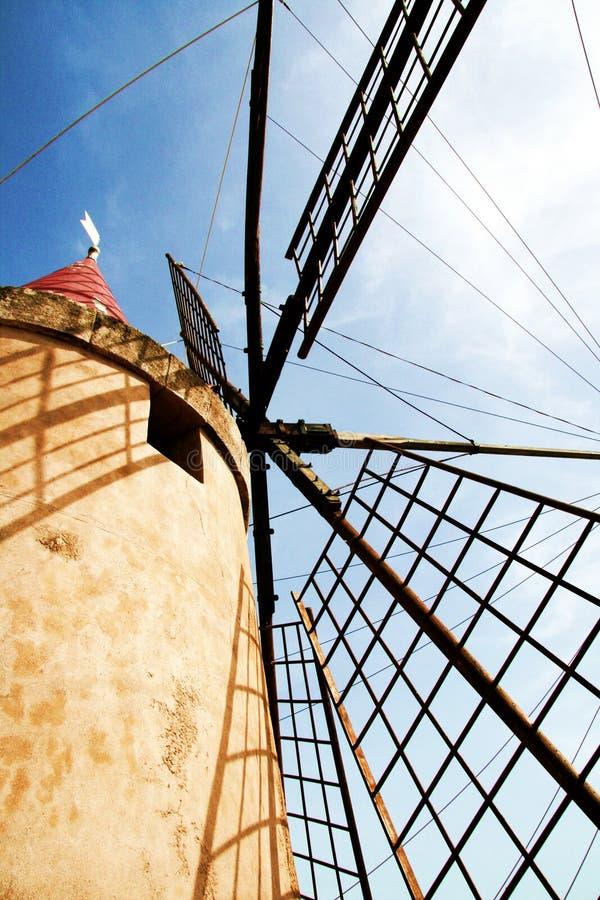De molens zoute vlakten van Moziamarsala royalty-vrije stock afbeelding