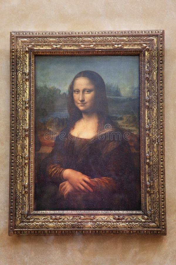 ` De Mona Lisa do ` da pintura no Louvre 30 11 2011 Paris, France foto de stock