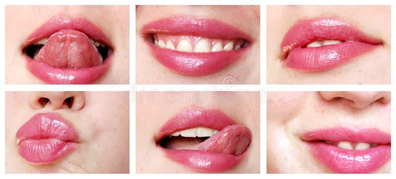 De mond en de tong van de close-up royalty-vrije stock foto