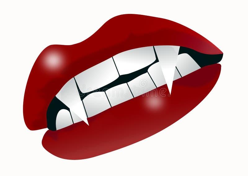 De mond van de vampier royalty-vrije illustratie