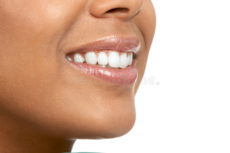 De mond van de vrouw stock afbeelding