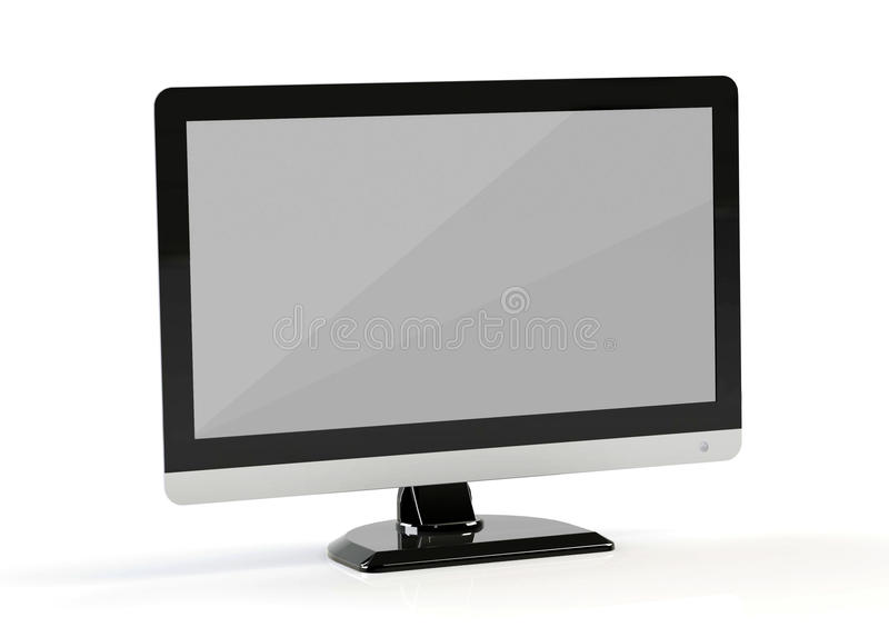 De monitor van de computer stock illustratie