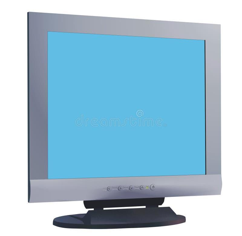 De monitor van de computer vector illustratie