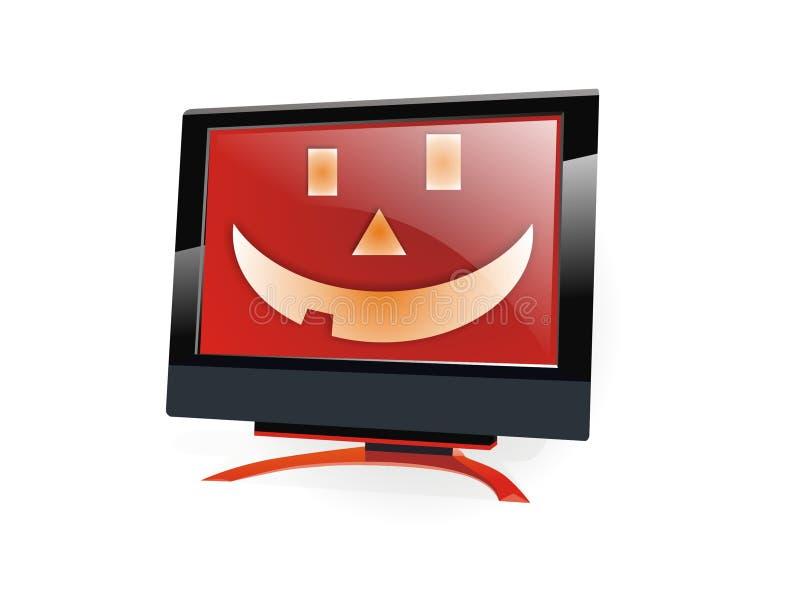 De monitor van Halloween lcd vector illustratie