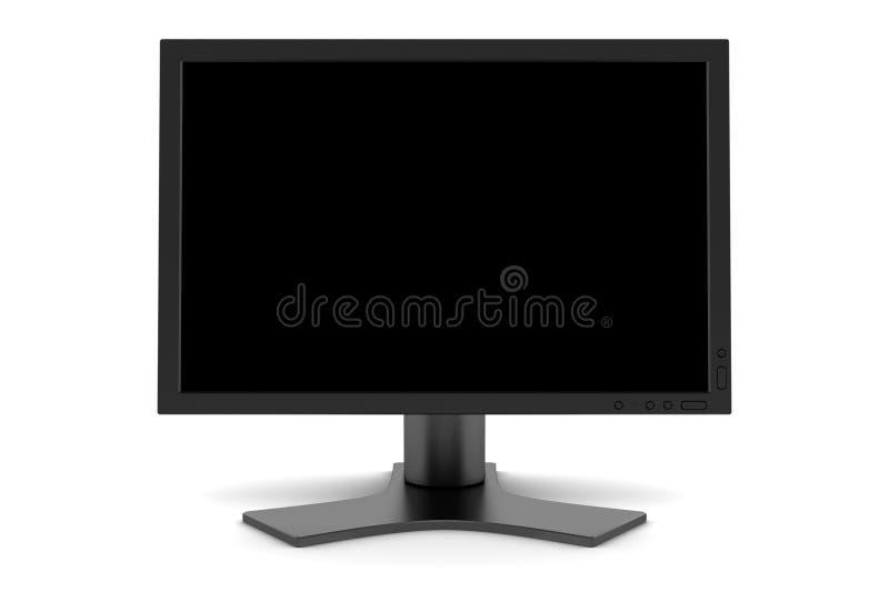 De monitor van Tft met het lege scherm die op wit wordt geïsoleerd royalty-vrije stock fotografie
