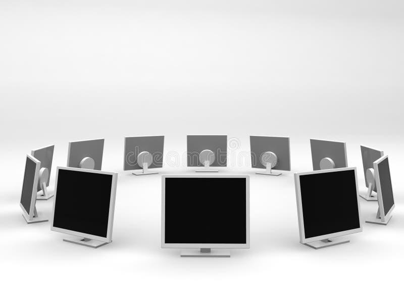 De monitors omcirkelen vector illustratie