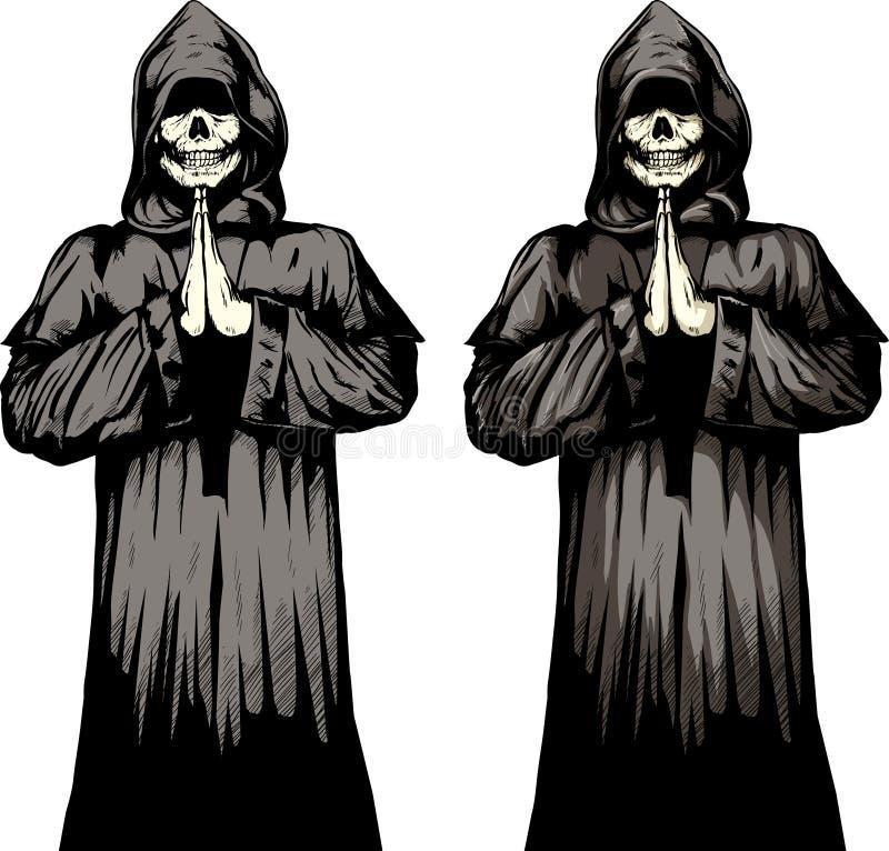 De monnik van Undead royalty-vrije illustratie