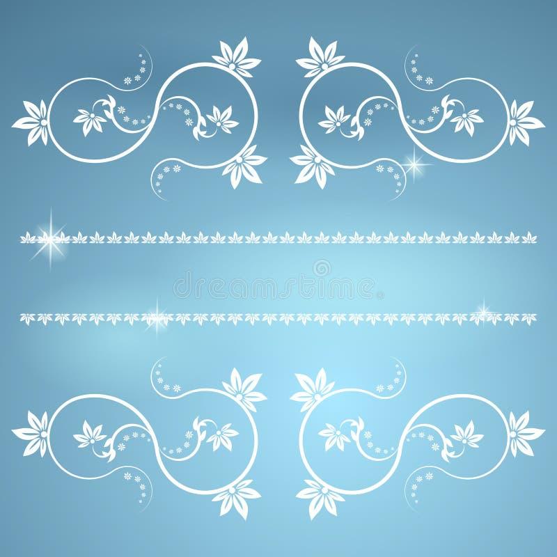 Het kader met monogrammen voor ontwerp en verfraait. stock illustratie