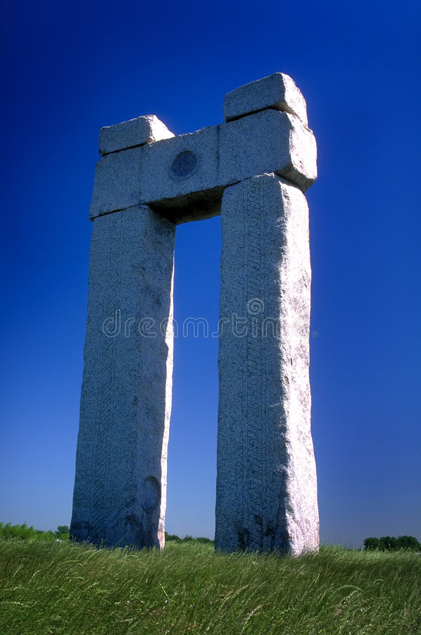 De monoliet van de steen stock afbeeldingen