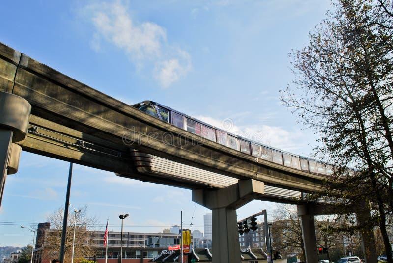 De Monorail van het Centrum van Seattle royalty-vrije stock foto's