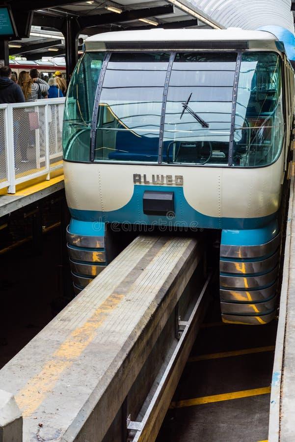 De Monorail van Seattle stock afbeelding