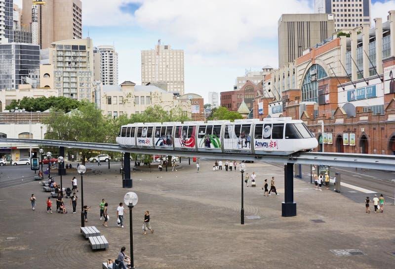 De Monorail van Sydney royalty-vrije stock afbeelding
