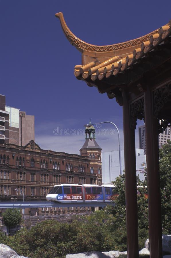 De monorailtrein van Sydney royalty-vrije stock afbeeldingen