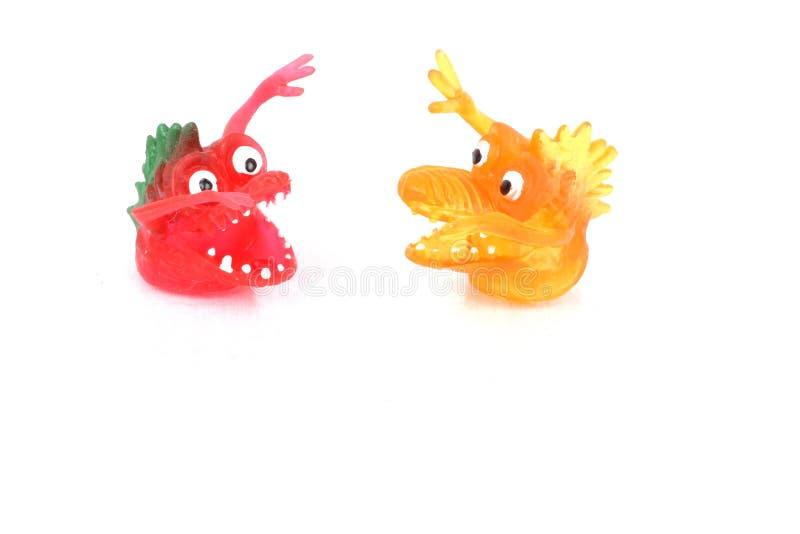 De Monsters Van Dueling Stock Afbeeldingen