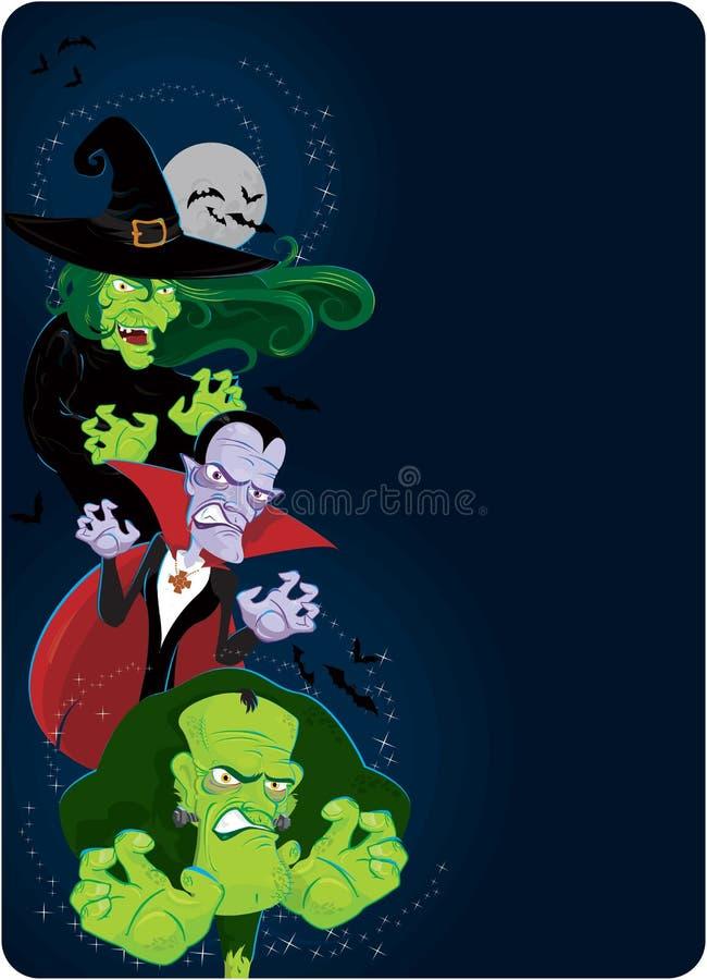 De monsters van Halloween royalty-vrije illustratie