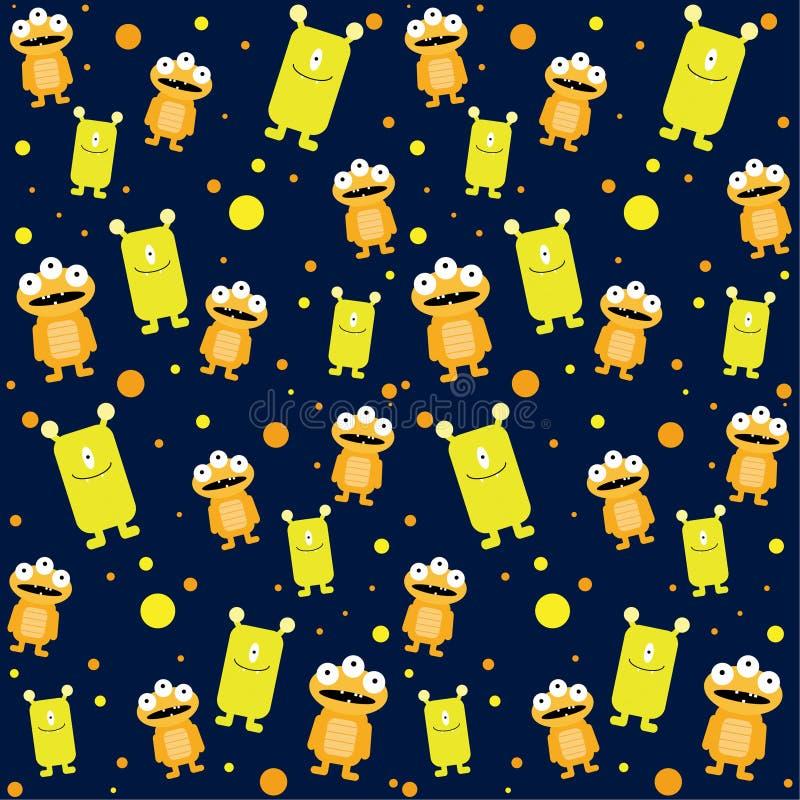 De Monsters Vlakke Emoji van het illustratiepatroon stock illustratie