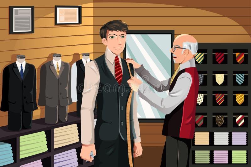De montage van de kleermaker voor kostuum vector illustratie