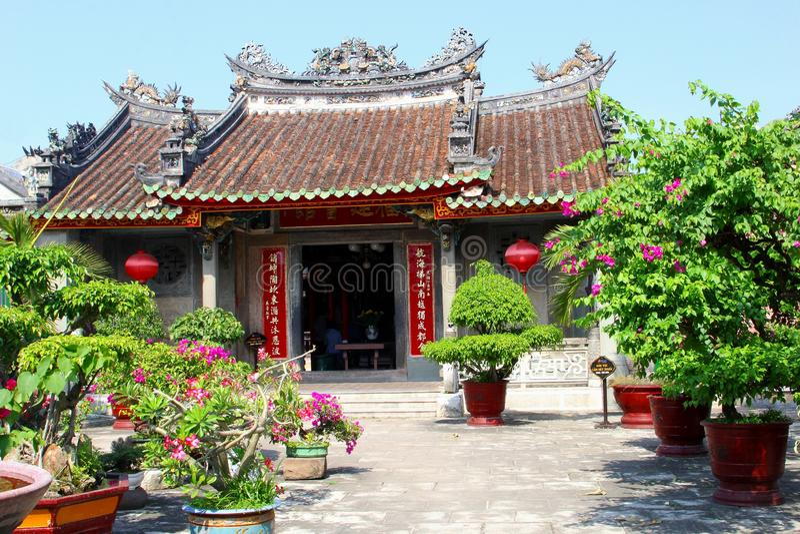 De Montagehal van Fujian van de binnenplaatstuin, Hoi An, Vietnam royalty-vrije stock fotografie