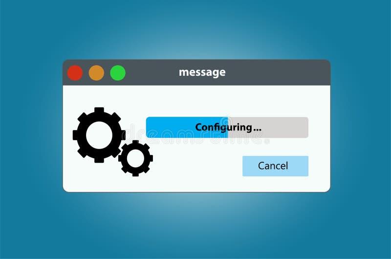 De montages van de het systeemconfiguratie van de vooruitgangsbar royalty-vrije illustratie