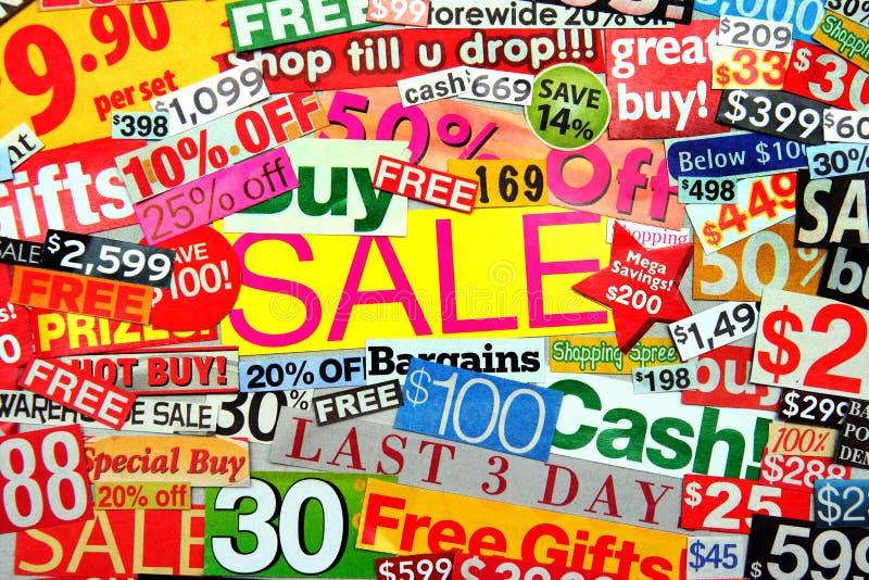 De Montering van de verkoop royalty-vrije illustratie