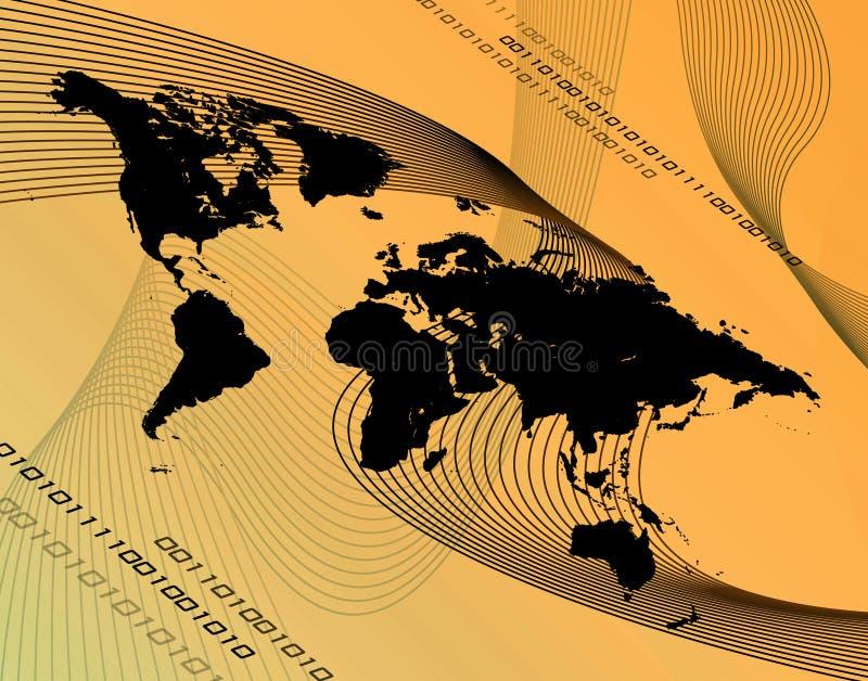 De Montering van Orange World vector illustratie