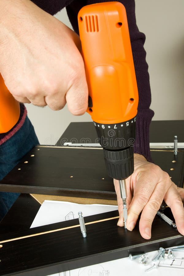 De monteur van het meubilair stock afbeelding