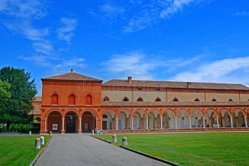 De Monumentale Begraafplaats van Certosa - Ferrara, Italië stock foto's