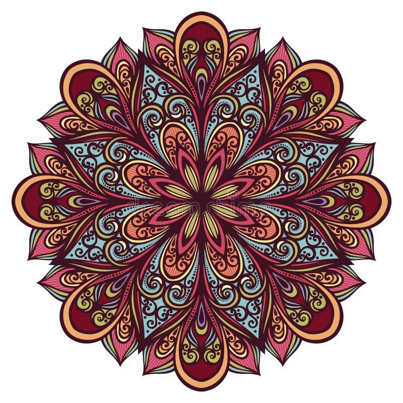 De mooie Abstracte Cirkel van Deco, Mandala vector illustratie