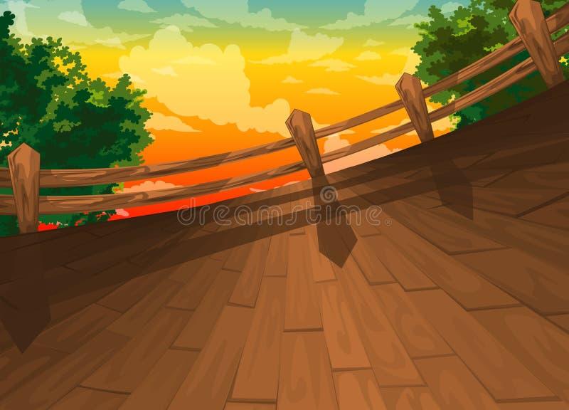 De mooie achtergrond van het Landschap stock illustratie