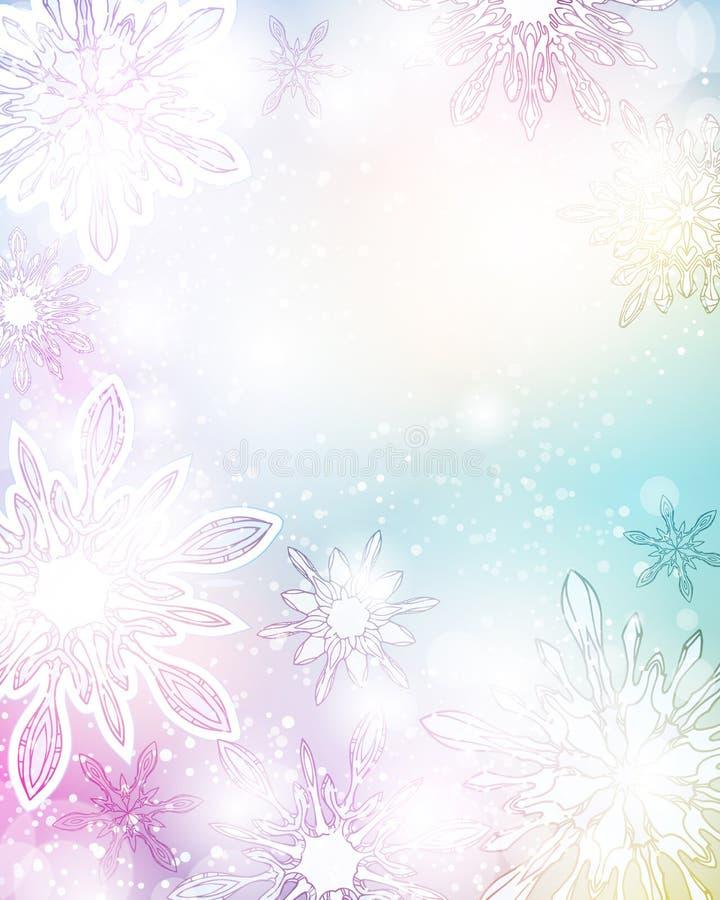 De mooie achtergrond van Kerstmis vector illustratie