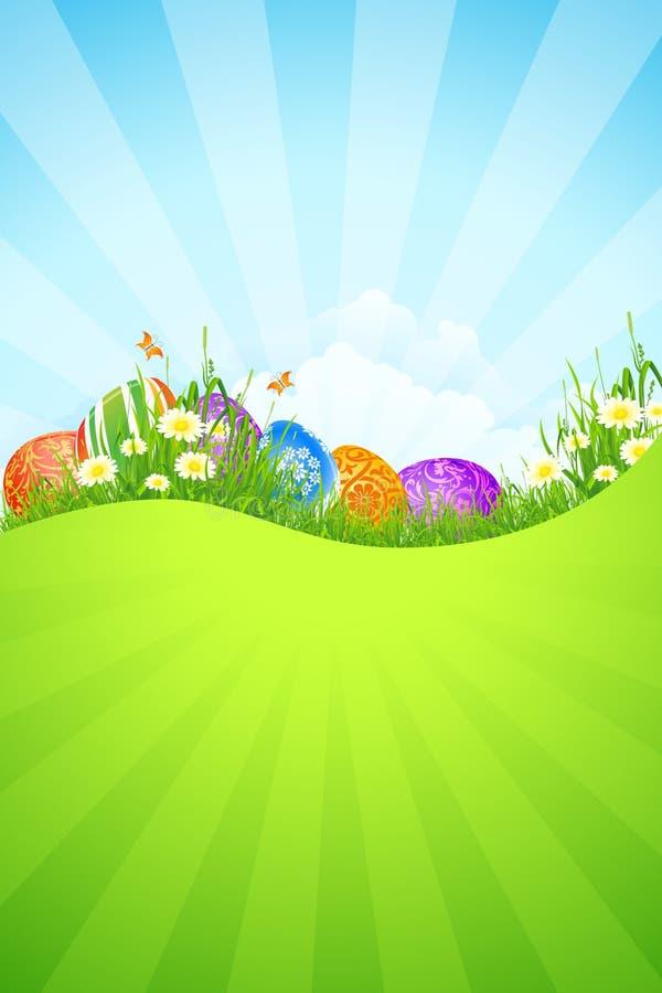 De mooie Achtergrond van de Vakantie van Pasen royalty-vrije illustratie