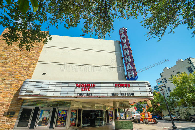 De mooie architectuur van Savannah Theatre stock fotografie