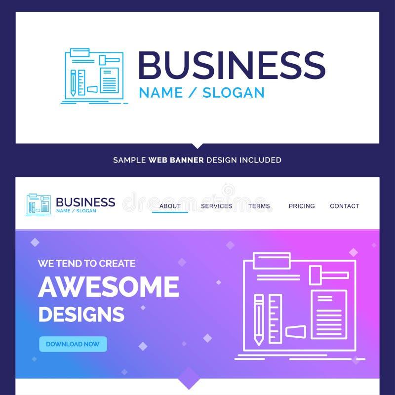 De mooie Bedrijfsconceptenmerknaam bouwt, construeert, diy, eng vector illustratie