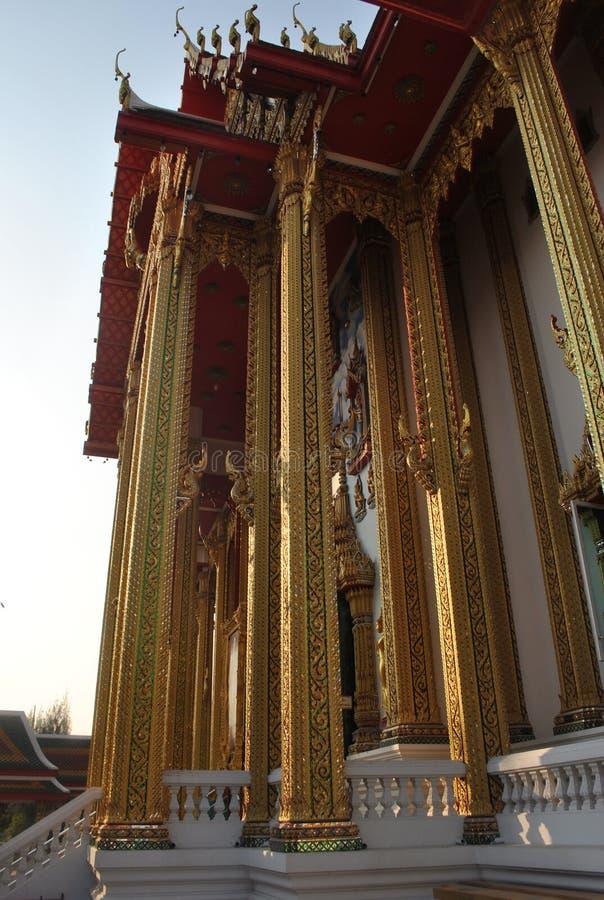 De mooie boeddhistische bouw in tempel van tempel wat de buakwan nonthaburi in Thailand stock foto