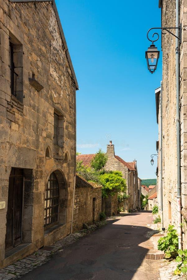 De mooie bouw in flavigny-sur-Ozerain royalty-vrije stock afbeelding