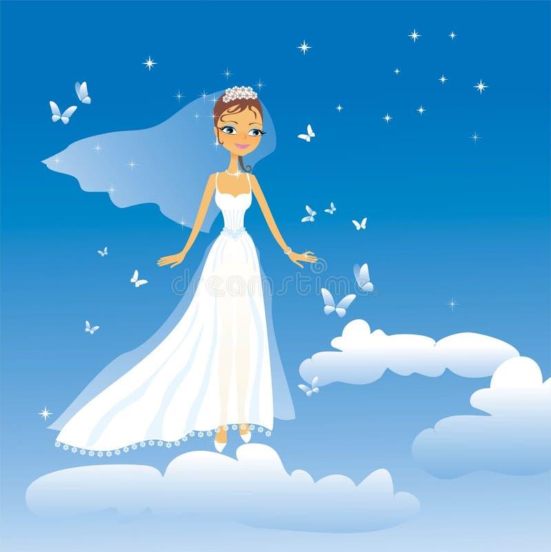 De mooie bruid royalty-vrije illustratie