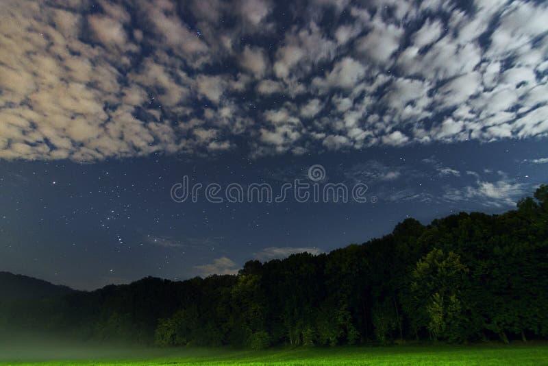 De mooie Constellatie van de nachthemel van Orion stock afbeeldingen