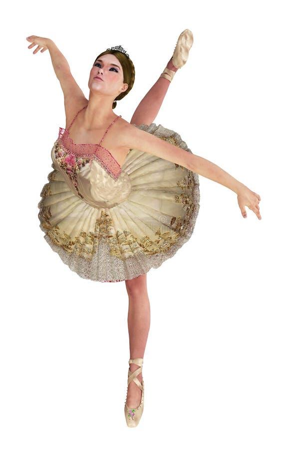 De mooie dans van het vrouwenballet vector illustratie