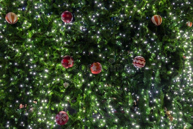 De mooie decoratie van de Kerstboom stock afbeelding