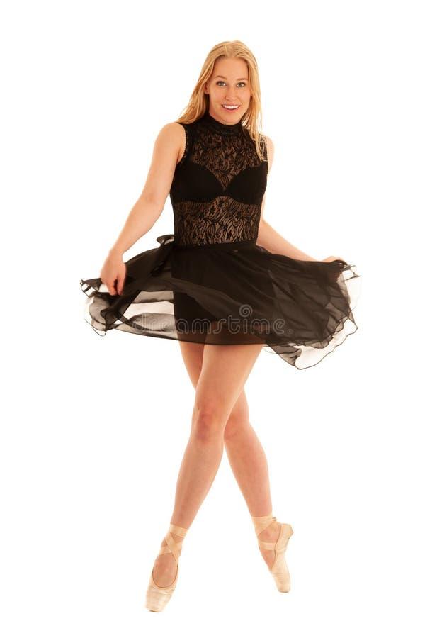 De mooie die dans van de baletdanser over witte achtergrond wordt geïsoleerd royalty-vrije stock afbeelding