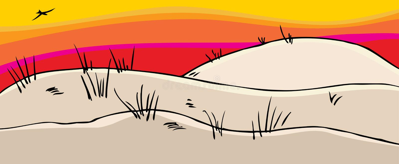 De mooie Duinen van het Zand stock illustratie