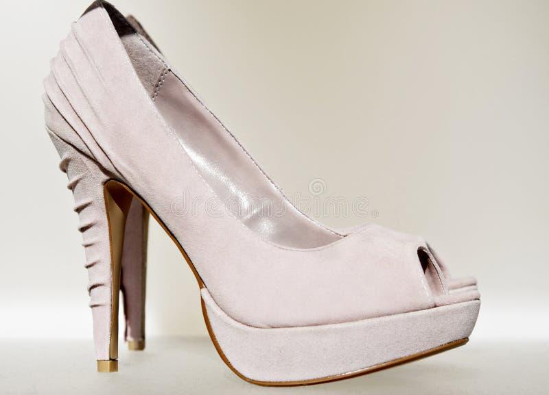 De mooie elegante hoge dames hielen schoen royalty-vrije stock foto's