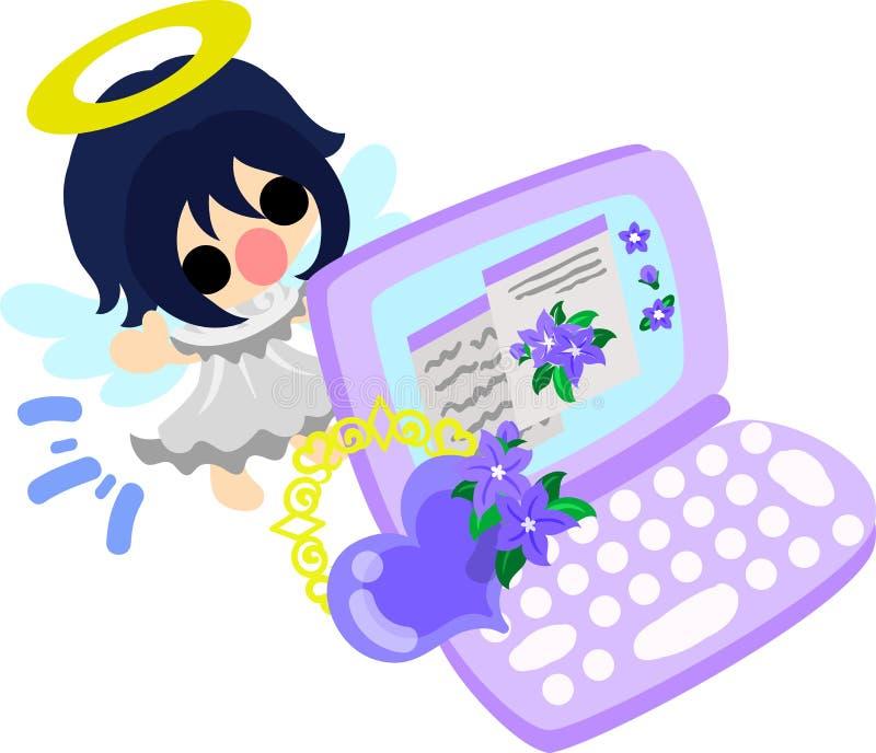 De mooie engelen stock illustratie