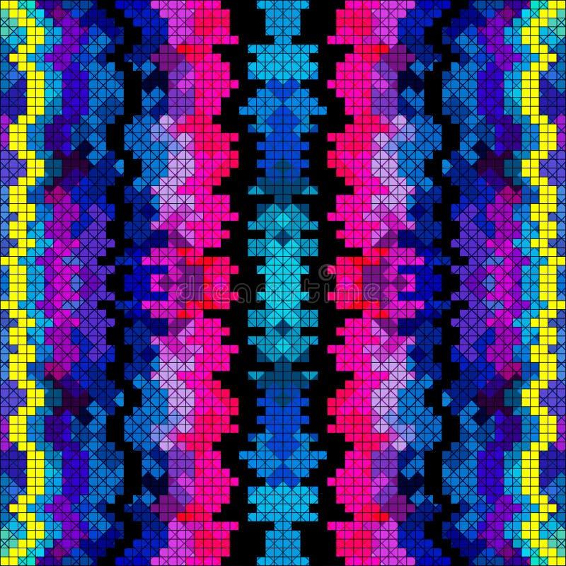 De mooie gekleurde vectorillustratie van het pixelpatroon vector illustratie