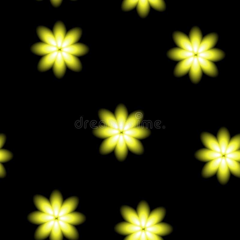 De mooie gele bloesems, vertroebelen naadloze vectorachtergrond stock illustratie